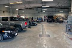Garage Bays at Dean's Auto Body and Collision Center in Sheboygan, WI